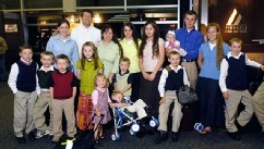 PHOTO: Josh Duggar and family pose for a photo at Northwest Arkansas Regional Airport in Highfil, Ark., May 9, 2008, after returning from a trip to New York.