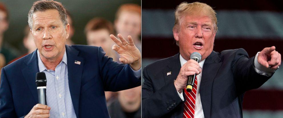 PHOTO: John Kasich | Donald Trump