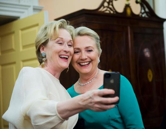 Through the Years: Hillary Clinton and Meryl Streep
