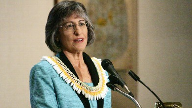 PHOTO: Former Hawaii Gov. Linda Lingle attended a Sales and Marketing Executives International luncheon at the Pacific Club in this Oct. 11, 2011 file photo in Honolulu.
