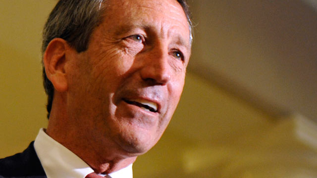 PHOTO: In this April 30, 2013 file photo shows former South Carolina Gov. Mark Sanford speaking in Charleston, S.C.