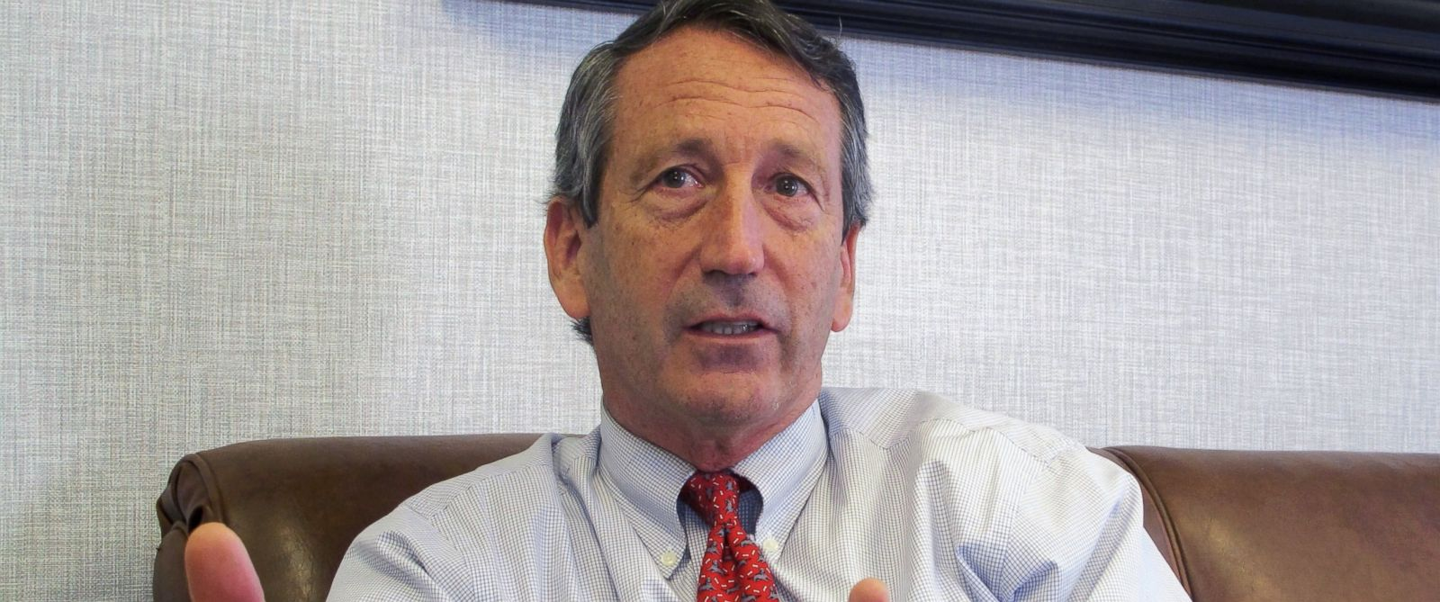 PHOTO: In a Dec. 18, 2013 photo, U.S. Rep. Mark Sanford, R-S.C., discusses his first months back in Congress during an Associated Press interview in his district office in Mount Pleasant, S.C.