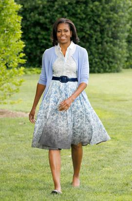 First Lady's Bright Outfit