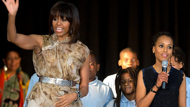 Michelle Obama Visits Va. School