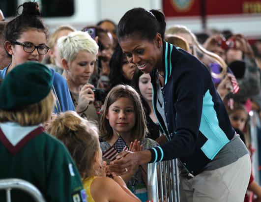 First Lady Meets US Military Families in England