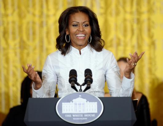 Michelle Obama Joins Students For A Bollywood Dance