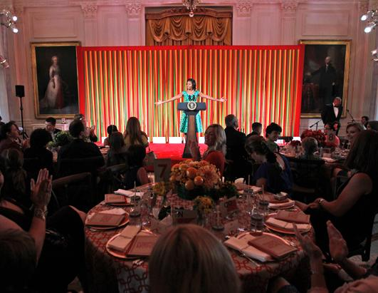 "First Lady Michelle Obama Hosts Kids' ""State Dinner"""