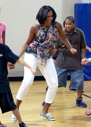 A Sporty and Chic Michelle Obama