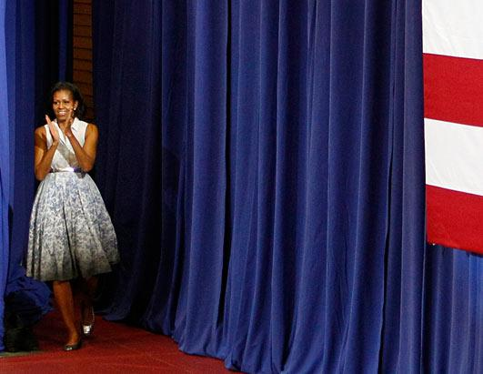 Michelle Campaigns in Style