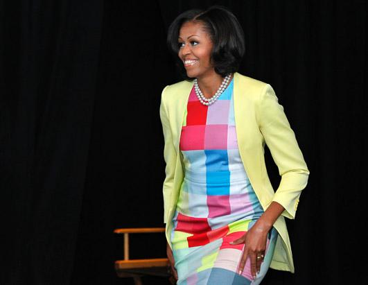 First Lady Fashionable at Newseum