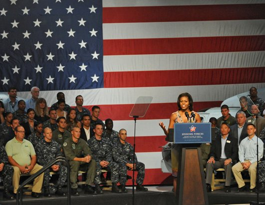 First Lady Goes Camo