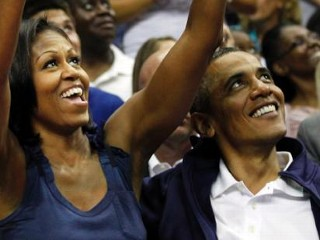 Photos: Michelle Obama Is Chic Courtside