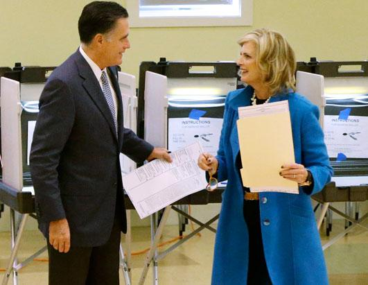 Ann Romney Casts Her Vote