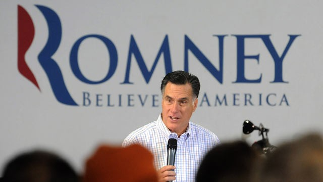 PHOTO: Republican presidential candidate, former Massachusetts Gov., Mitt Romney campaigns at Cherokee Trike and More, a motorcycle sales and service business in Greer, S.C. on Jan. 12, 2012.