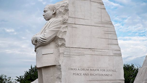 ap mlk memorial quote kb 130723 16x9 608 King Memorial Renovated in Time for March on Washington Anniversary