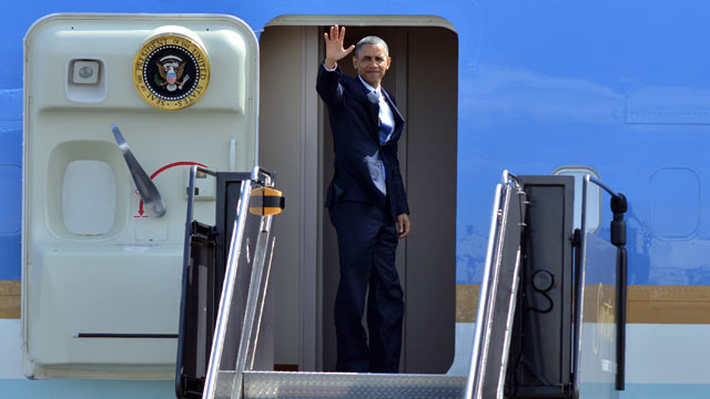 Obama En Route to Mexico