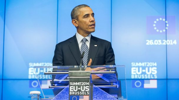 ap obama belgium kb 140326 16x9 608 Obama Warns Europe About Russian Aggression