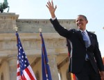 President Barack Obama, stands in front of Brandenburg Gate at Pariser Platz in Berlin, Germany, June 19, 2013.