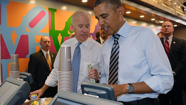 ap obama biden lunch kb 131004 16x9 608 Obama Makes Sandwich Run, Says There Is No Winning In Shutdown Fight
