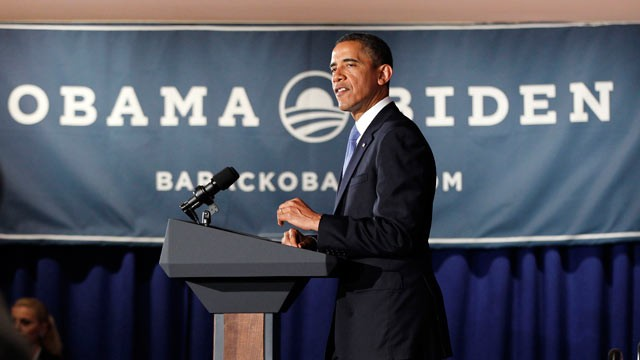 PHOTO: President Barack Obama speaks at a fundraiser hosted by singer Ricky Martin and the LGBT Leadership Council at the Rubin Museum of Art, May 14, 2012, in New York.