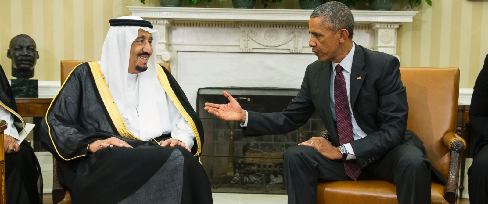 PHOTO: President Barack Obama, right, meets with King Salman of Saudi Arabia in the Oval Office of the White House, on Friday, Sept. 4, 2015, in Washington.