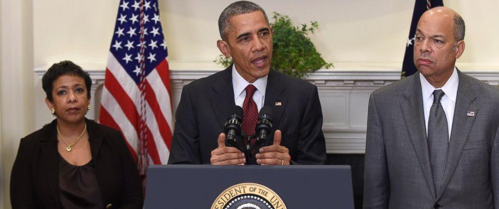 PHOTO: President Barack Obama speaks in the Roosevelt Room of the White House in Washington on Nov. 25, 2015.