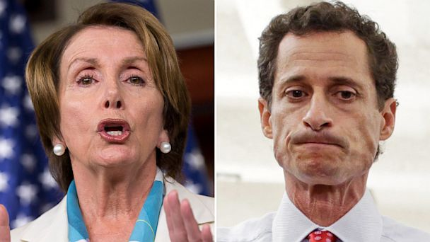 ap pelosi weiner mi 130725 16x9 608 Nancy Pelosi Condemns Weiner as Reprehensible, Disrespectful and Maybe Clueless