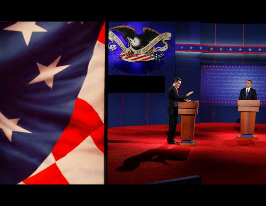 Obama and Romney in First Debate