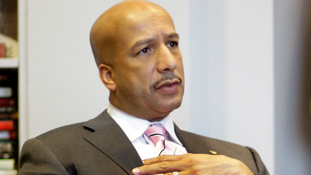 PHOTO: New Orleans Mayor Ray Nagin speaks during an interview in his office a