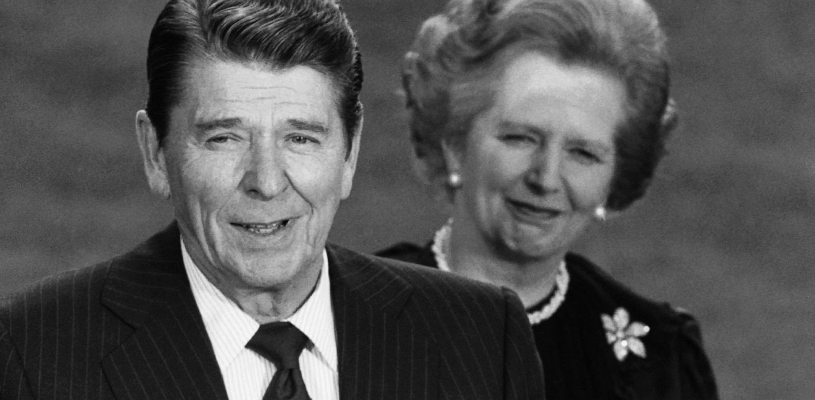 PHOTO: President Ronald Reagan alongside British Prime Minister Margaret Thatcher