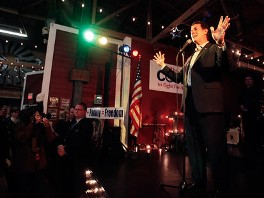 PHOTO: Republican presidential candidate former Pennsylvania Sen. Rick Santorum speaks to supporters at a rally, Feb. 8, 2012, in Plano, Texas.