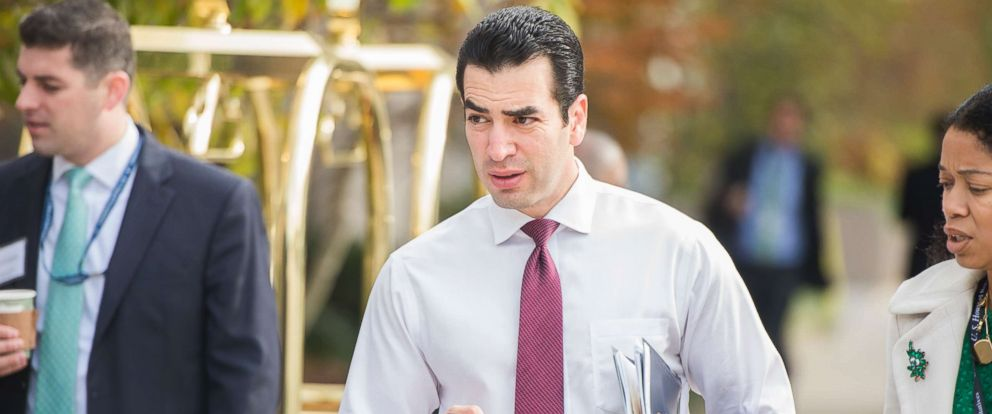 PHOTO: Rep.-elect Ruben Kihuen, D-Nev., arrives to the Capitol Hill Hotel on the day freshman members checked in for orientation, November 14, 2016.