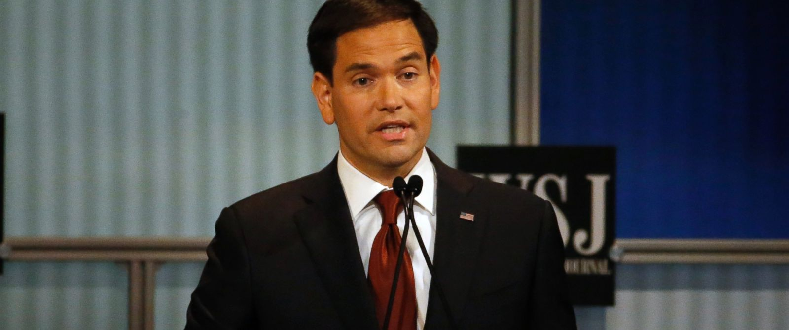 PHOTO: Marco Rubio speaks during Republican presidential debate at Milwaukee Theatre, Nov. 10, 2015, in Milwaukee.