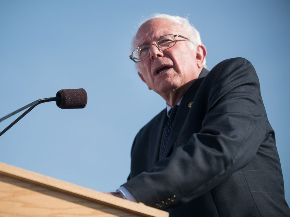PHOTO: Sen. Bernie Sanders speaks, May 26, 2015 in Burlington, Vt., where he formally announced he will seek the Democratic nomination for president.