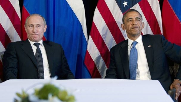 PHOTO: President Barack Obama participates in a bilateral meeting with Russian President Vladimir Putin during the G20 Summit, in this June 18, 2012 photo in Los Cabos, Mexico.