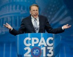PHOTO: National Rifle Association (NRA) CEO Wayne LaPierre gestures as he speaks at the 40th annual Conservative Political Action Conference in National Harbor, Md., Friday, March 15, 2013.