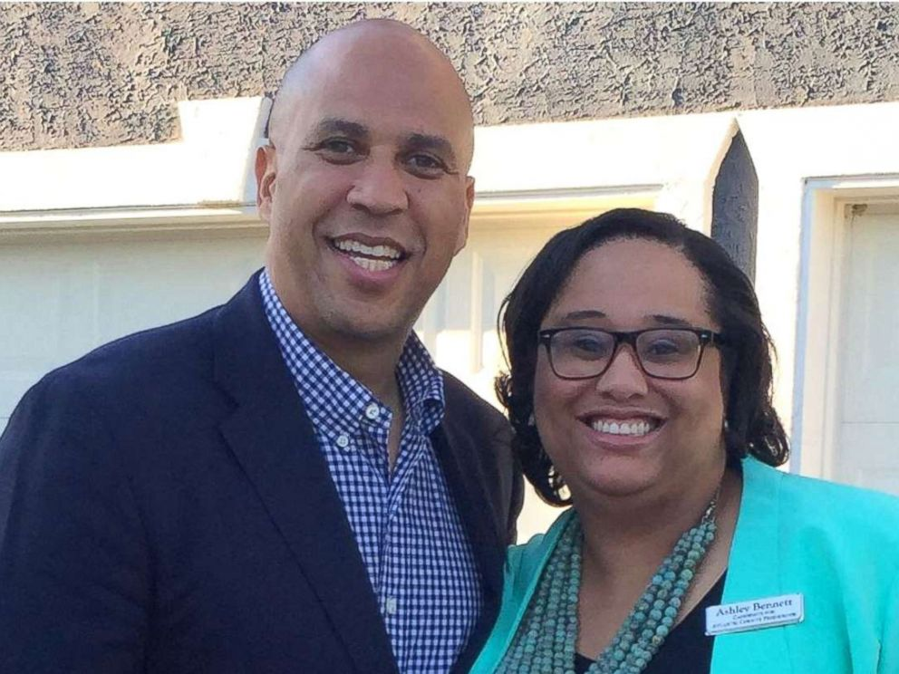 PHOTO: Ashley Bennett pictured with Sen. Cory Booker, D-N.J.