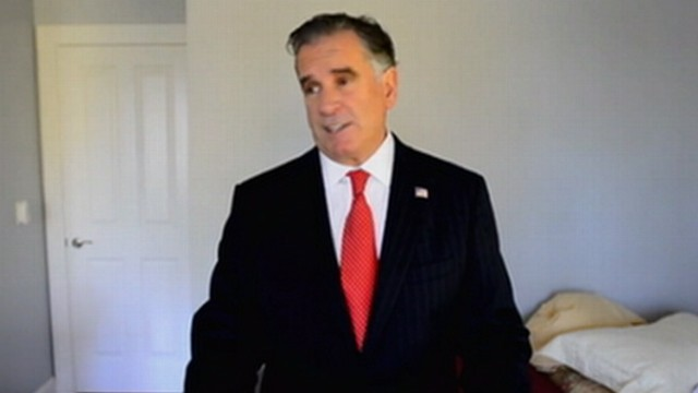 VIDEO: Drywall hanger Mike Cote is hoping to give up his day job with his resemblance to Romney.