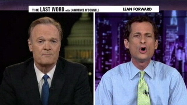 VIDEO: Anthony Weiner angrily reacts to MSNBC host Lawrence O?Donnells questions.