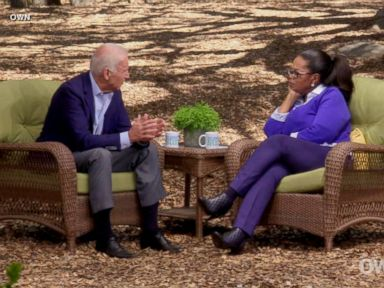 PHOTO: Former vice president Joe Biden told Oprah Winfrey he regrets that he doesnt currently occupy the Oval Office in an OWN Network interview.