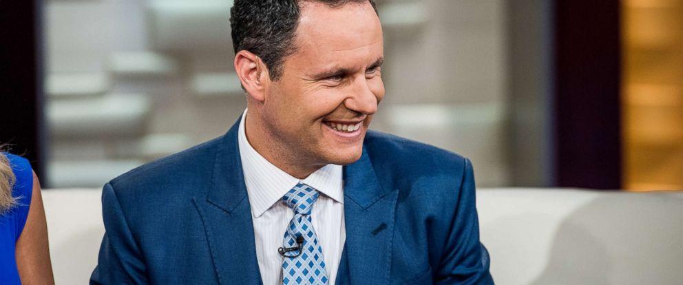 "PHOTO: Fox News Host Brian Kilmeade smiles during a segment on ""Fox & Friends"" at FOX Studios on May 5, 2016, in New York City."