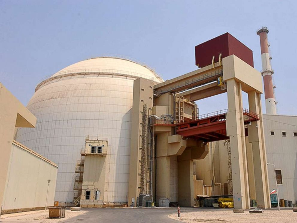 PHOTO: A view of the reactor building at the Russian-built Bushehr nuclear power plant as the first fuel is loaded, Aug. 21, 2010 in Bushehr, southern Iran.
