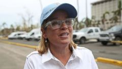'PHOTO: San Juan Mayor Carmen Yulin Cruz speaks to the media as she arrives1_b@b_1the temporary government center setup1_b@b_1the Roberto Clemente stadium in the aftermath of Hurricane Maria, Sept. 30, 2017 in San Juan, Puerto Rico.' from the web at 'http://a.abcnews.com/images/Politics/carmen-yulin-cruz-gty-jt-171001_16x9t_240.jpg'