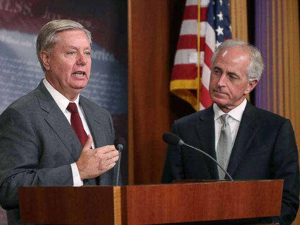 Trump's relationships with Graham, Corker have evolved during presidency