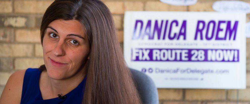 PHOTO: Danica Roem, a Democratic nominee for the House of Delegates 13th district seat, sits in her campaign office in Manassas, Virginia, Sept. 22, 2017. If elected, Roem would be the state's first transgender representative.