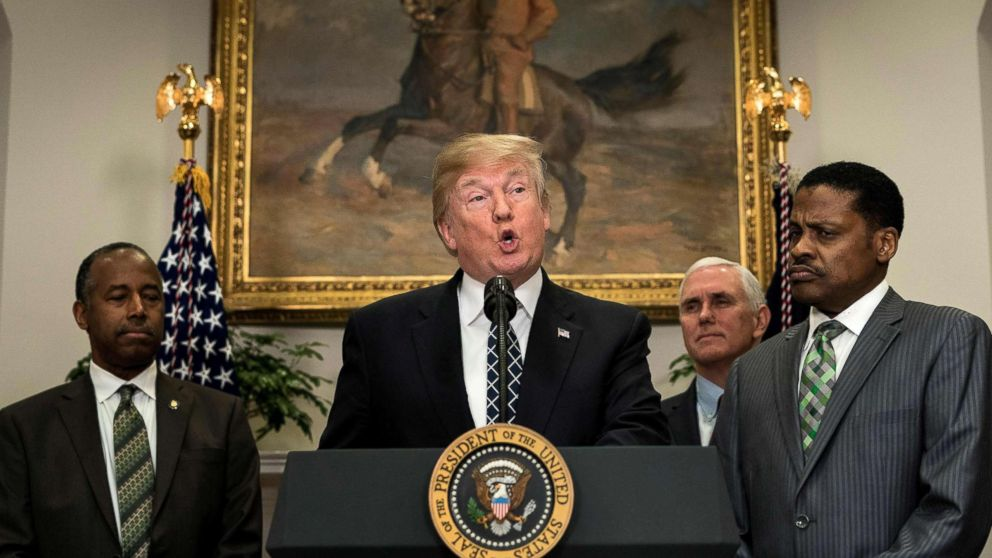 Trump ignores controversy over 's---hole' remarks as he honors Martin Luther King Jr.
