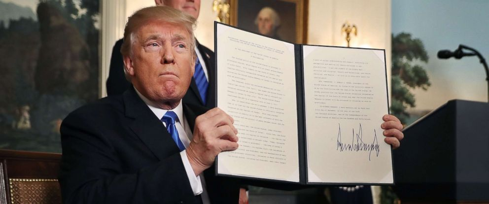 PHOTO: President Donald Trump declared that the U.S. government will formally recognize Jerusalem as the capital of Israel the White House December 6, 2017 in Washington.