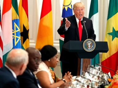 Trump tells African leaders of friends 'trying to get rich' in their countries