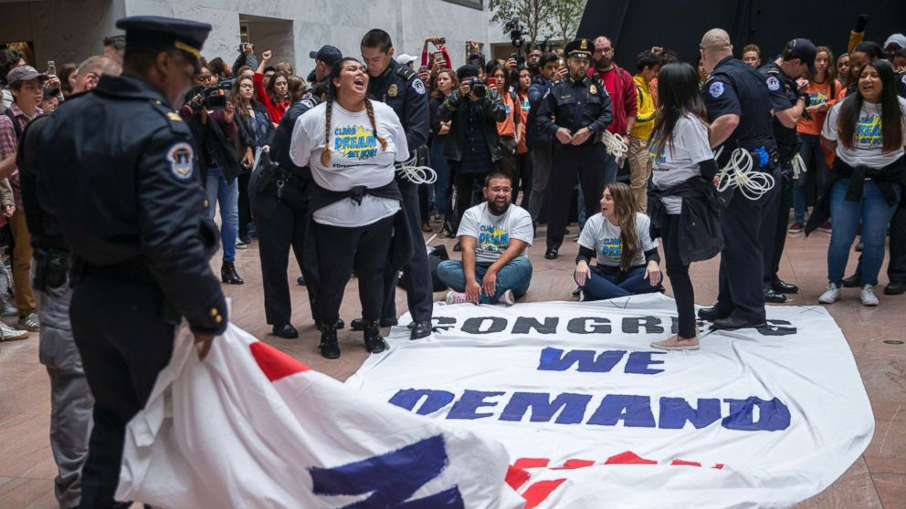 15 Dreamer protesters arrested on Capitol Hill