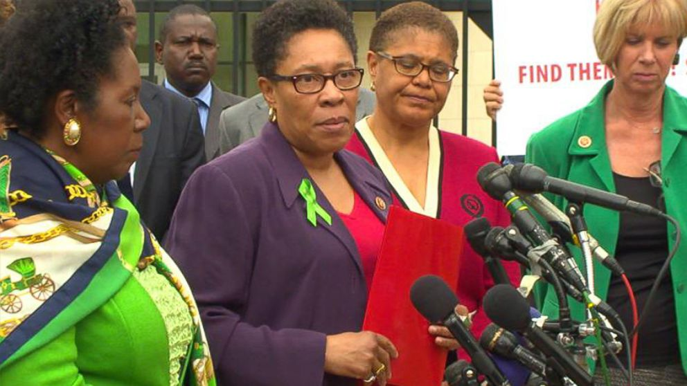 House Democrats hold press conference on kidnappings outside Nigerian Embassy in Washington, D.C.